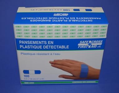 Pansements Bleu en Plastique, Régulier (bte/100)