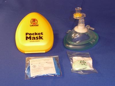 Masque de Poche Laerdal*, Valve & Filtre+O2 (bte)