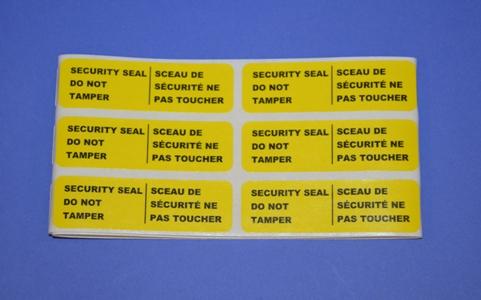 Sceaux de Sécurité Autocollant (pqt/25)