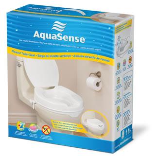 Siège de Toilette Surélevé, AquaSence (2'')