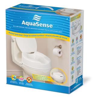 Siège de Toilette Surélevé, AquaSence (4'')