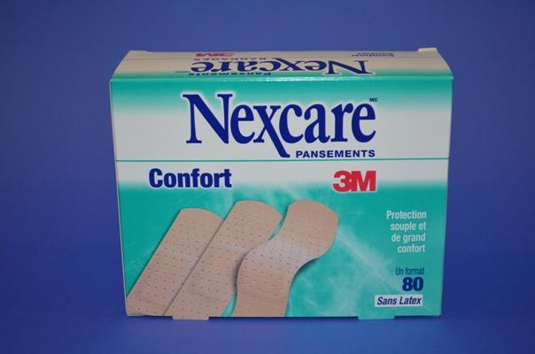 Pansements Nexcare Confort, Réguliers (bte/80)