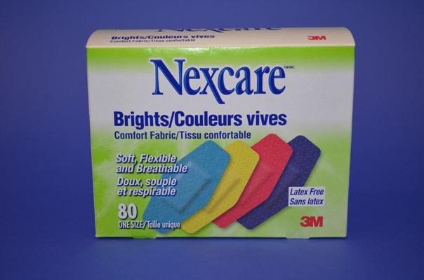 Pansements Nexcare Couleurs, Réguliers (bte/80)