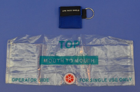 Écran de Protection Faciale, Porte-Clés (bleu)