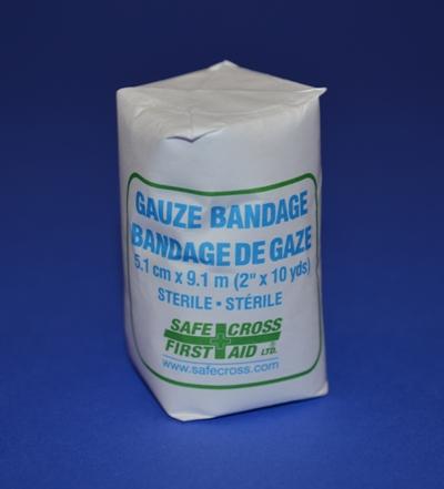 Rouleau de Gaze en Coton Stérile, 2'' x 10 vgs