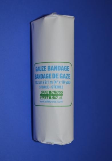 Rouleau de Gaze en Coton Stérile, 4'' x 10 vgs