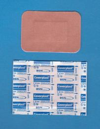 Pansements Coverplast* Tissu, Rectangle (pqt/100)